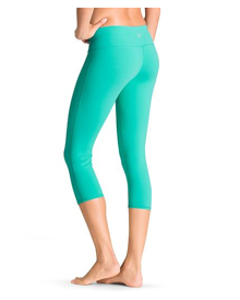 Athleta Chaturanga Capri Catalina Green