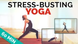 Stress Busting Yoga Flow (55-Min) Optional Music!
