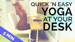 Quick Yoga at Your Desk | Chair Yoga to Stretch You Out (5 min)