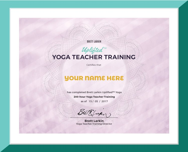 Yoga Teacher Training Certificate