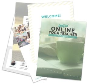 Online Yoga Teacher Training Brochure Leaflet