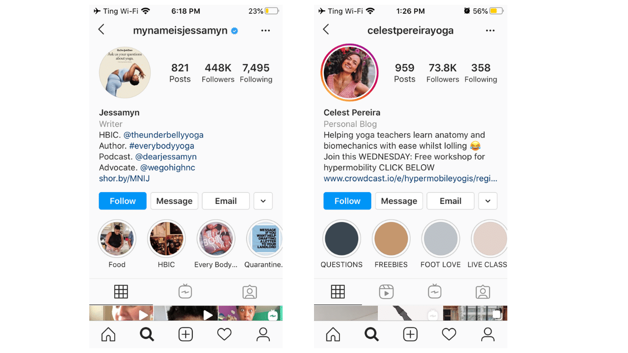 instagram business account examples